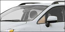 driver side vent glass