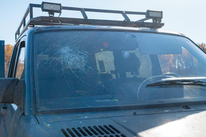 wiping windshield